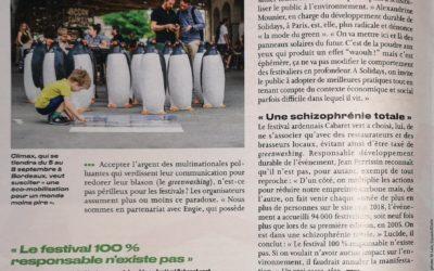 Le Parisien: Festival 100% responsable…