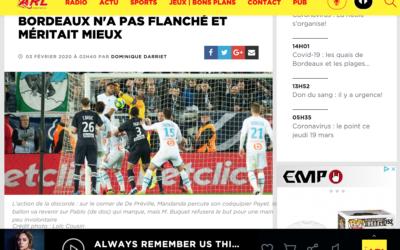 ARL Radio: Bordeaux n'a pas flanché et méritait mieux.