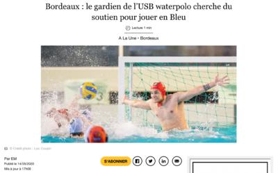 Sud Ouest: Bordeaux : le gardien de l'USB waterpolo…