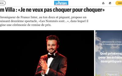 Le Parisien: Tom Villa: «Je ne veux pas choquer…»