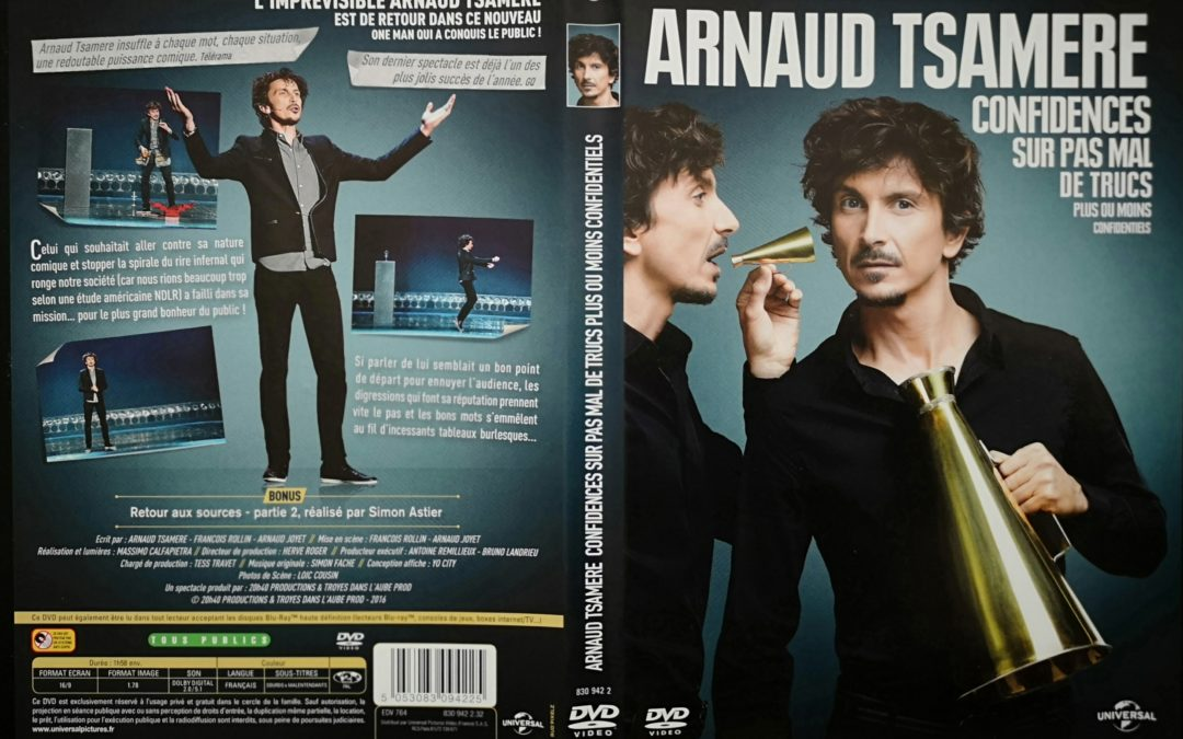 DVD: Arnaud Tsamère, confidences sur pas mal de..